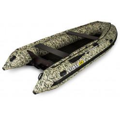 Лодка надувная транцевая Солар-420 Стрела Jet Tunnel камыш