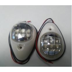 Комплект навигационных огней  белый (светодиоды) 900034
