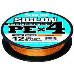 Плетеный шнур SUNLINE SIGLON PE 4 #1.2 (0,185мм)  300м оранжевый