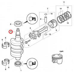 Коленвал 3BJ-00030-0 Tohatsu MFS20