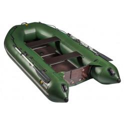 Лодка Ривьера 2900СК Касатка черно/зеленая