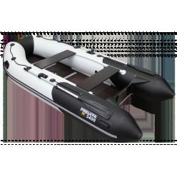 Лодка мот-греб Ривьера Компакт 3400 СК Комби светло-серый/черный