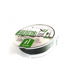 Плетеный шнур Mottomo Strong Line PE Dark Green #1,5/8kg 150m