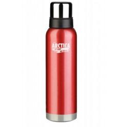Термос Арктика бытовой,вакуум 1200мл(красный)д/напитков