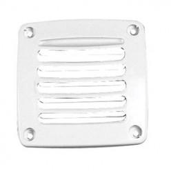 Вентиляционная решётка пластиковая,белая 86х86х15мм