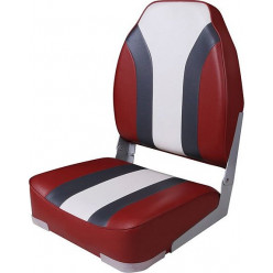 Кресло Highback Rainbow Boat Seat красно-белое 75107RCW