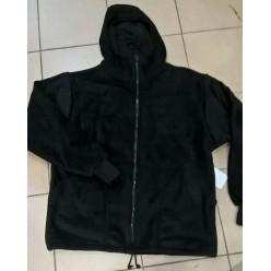 Куртка флисовая на молнии черный р.52