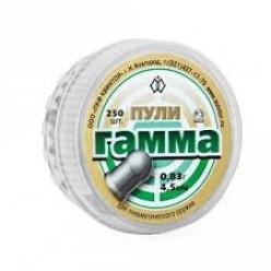 Пули пневматические Гамма 4.5мм 0.83гр 150шт круглая головка