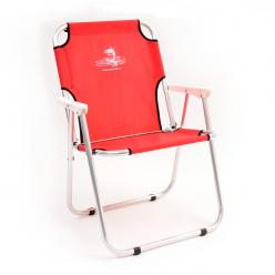 Кресло-шезлонг Кедр алюминий цвет красный AKS-08