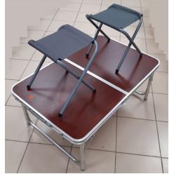 Стол складной + 2 табуретки 60*90