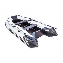 Моторная лодка Ривьера Компакт 2900 СК Касатка светло-серый/черный