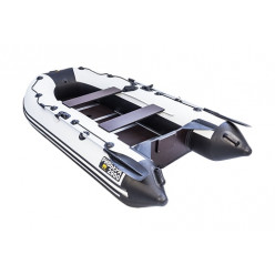 Моторная лодка Ривьера Компакт 3200 СК Касатка светло-серый/черный