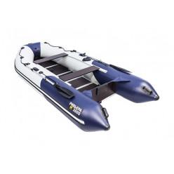 Моторная лодка Ривьера Компакт 3400 СК Комби светло-серый/синий