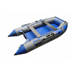 Моторная лодка ПВХ Zefir 3900 серый/синий НДНД