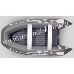 Лодка моторная Gladiator Е 420 темно-серый
