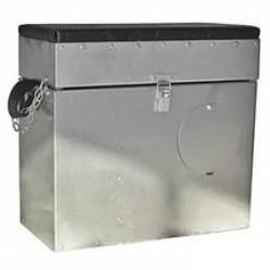 Ящик зимний алюминивый 28л с окошком Ф-05