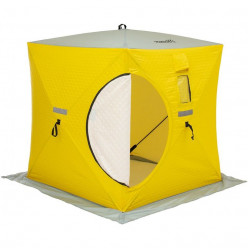 Палатка зимняя Куб утепл. 1,5х1,5 yellow /gray PREMIER