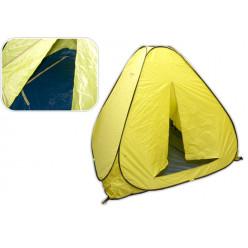 Палатка зимняя авт 2,0*2,0 дно на молнии желтая*1,7м
