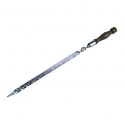 Шампур с деревянной ручкой широкий