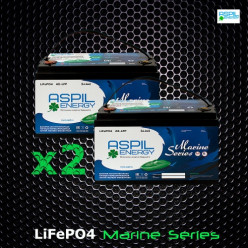Комплект аккумуляторов литий-ионных (LifePO4), тяговые AE-LFP2460 x2 (24V,120Ah)