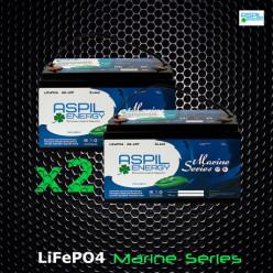 Комплект аккумуляторов литий-ионных (LifePO4), тяговые AE-LFP2472 x2 (24V,144Ah)