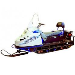 Снегоход на раме Д-2 Двигатель ЯВТ-640.1.2 с карбюратором микуни с электростартером