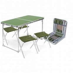 Комплект мебели складной,стол +стулья ССТ-К2/1 металлик-хант