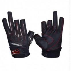 Перчатки TSURIBITO LFG-110 (3 открыт. пальца) чер\бел