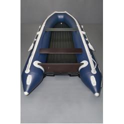 Лодка надувная транцевая Солар-420 Jet Tunnel синий