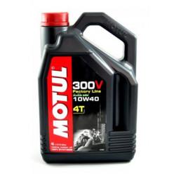 Моторное масло MOTUL 300V 4T FactoryLine 10W40 4л синтетика