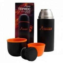 Термос TONAR чёрный с доп.чашкой 750ml HS.TM-024