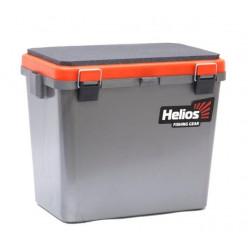 Ящик рыболовный зимний односекционный серый/оранжевый HS-IB-19-GO-1