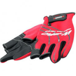 Перчатки с двумя пальцами WG-FGL025, красные с черным, 2XL