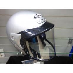Шлем снегоходный СНОУ ZS-506 cеребряный M