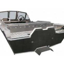 Алюминиевая моторная лодка RusBoat-43 JET PRO транец 380мм с доп. опциями