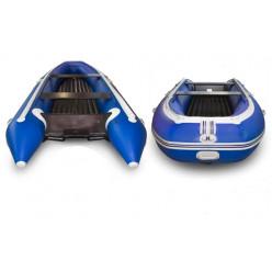 Лодка надувная транцевая Солар-420 Стрела Jet Tunnel синий