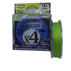 Плетёный шнур Duel PE Hardcore X4 0,153мм 150м зелёный