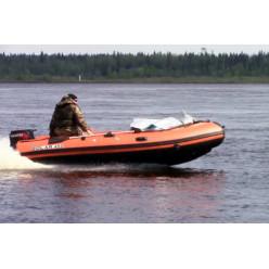 Лодка надувная транцевая Солар Максима-450 К оранжевый