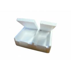 Мотыльница 2х-камерная пенопласт 0,5L