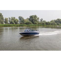 Лодка алюминиевая Салют 430NL транец 510 с доп опциями