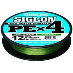 Плетеный шнур SUNLINE SIGLON PE 4 #1,7 (0,223мм) 150м темно-зеленый