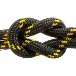 Шнур плетен Экстрим 12.0мм 1м желто-черный