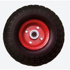 Колесо PU1804-1 пенополиуретан,мет. симм.диск ось 20 мм