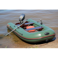 Лодка надувная ПВХ МНЕВ CatFish 340 оливковый