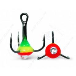 Тройник Капля № 10 VD-092C (BN) цв. 30 Зеленый+Желтый+Красный+Белый Страз