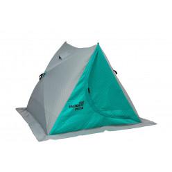 Палатка зим двускатная DELTA Комфорт бирюза/серый Helios