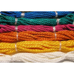 Веревка крученая полиамидная ВПА 3.1мм цветная 1м