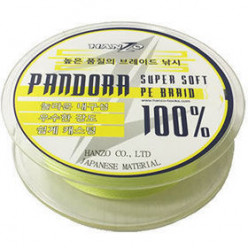 Леска плетеная Hanzo Pandora Yellow #1.0 125м 0.16мм