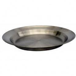 Тарелка 24см нержавеющая сталь