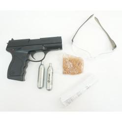 Пистолет пневматический Crosman PRO77 Kit (blowback, пули+очки+2 баллончика) кал.4,5мм